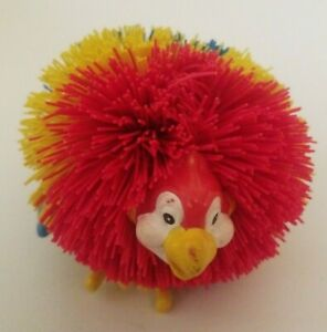 "Colorful BIRD Animal KOOSH BALL Sensory Toy Red Yellow Blue 3"" Diameter"