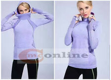 Pro Hyperwarm Women's Training Fitness Gym Running Hoodie Top Functional Fabric M Purple