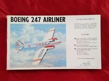 AEREO BOEING 247 AIRLINER 1/72 WILLIAMS BROS.INC.72247