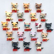 5pcs/Lot Random Littlest Pet Shop toys rare LPS short hair Cat Christmas Gift