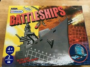 ASDA KIDS CONNECTION BATTLESHIPS GAME BOXED 4+ YEARS - 2 PLAYERS