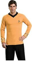 Star Trek Original Series Captain Kirk Gold Adult Deluxe Uniform Shirt, SEALED