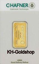 GOLDBARREN 5 GRAMM , FEINGOLD 999,9 , VON C.HAFNER