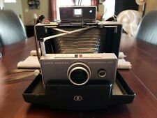 POLAROID Automatic 100 Land CAMERA + Manual CASE Flash