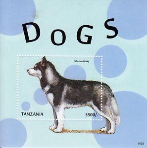 Tanzania 2014 MNH Dogs II 1v S/S Pets Siberian Husky Domestic Animals