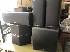 A set of klipsch surround sound KSW12 sub, RC3ii, RS3ii, RB3 ii