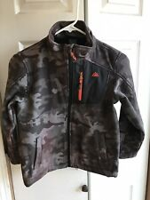 Boys Snozu Grey Camouflage Soft Shell Jacket Full Zip Snow Size Small 8