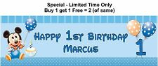 Party Banners for Baby or 1st or any Personalised Birthday, MICKEY MOUSE