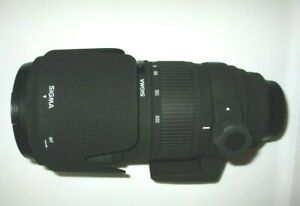 SIGMA 70-200mm F2.8 DG HSM Sports LENS HOOD & Original Case NIKON