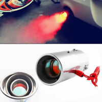 Universal Car Auto LED Exhaust Pipe Spitfire Red Light Flaming Muffler Tip LF