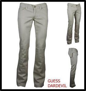 pantaloni jeans guess donna vita bassa elasticizzati a zampa bootcut eleganti 44