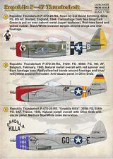 Escala de impresión 1/144 Republic P-47D Thunderbolt # 14405