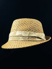 MENS TOYO STRAW FEDORA HAT * L/XL ** SALE NEW SUN SHADY MADE BY DORFMAN PACIFIC