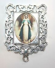 Extra LARGE Silver Rosary Center Part | Our Lady of Grace # 1| Rosary Parts