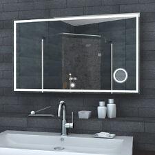 Lux-aqua Badspiegel mit LED Uhr Schminkspiegel TOUCH SCHALTER 100x60cm LMC1060A
