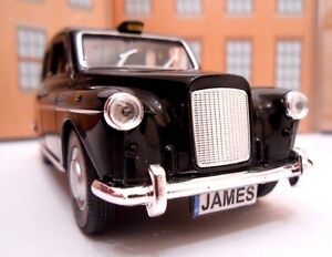 LONDON TAXI CAB PERSONALISED PLATES NAME Toy Car MODEL boy dad CHRISTMAS GIFT