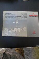 Deutz Parts Catalog~B/FL 1011/T~Engine~Spare Parts Service Manual