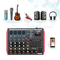 Muslady Mini 4/6 Channel Mixing Console Mixer 7-band EQ USB Built-in 48V C6X3