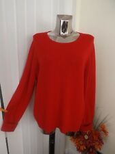 M&S LACQUER RED LAMBSWOOL MIX LONG SLEEVE JUMPER TOP SIZE 22 LADIES BNWT RP £29