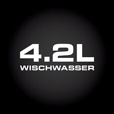 4.2 L Wischwasser Auto Aufkleber Sticker Decal JDM OEM DUB Shocker 13,0 x 4,7 cm