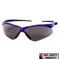 ac1c5f7fe59 JACKSON NEMESIS SAFETY GLASSES SMOKE ANTI-FOG LENS BLUE FRAME SUNGLASSES  47387