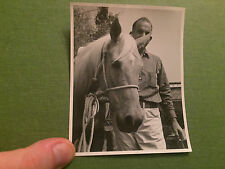 Social History Vintage Photograph Man With Horse USA 1950's