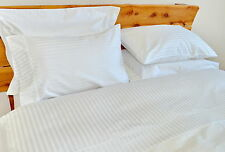 Double Bed Flat Sheet 1000TC/10cm2 Pure Cotton White Stripe Loose Package