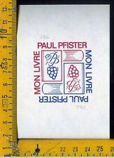 Ex Libris Originale VAG c 190 Paul Pfister
