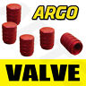 RED CHROME ALUMINIUM VALVE DUST TYRE WHEEL CAPS CAR LAND ROVER DISCOVERY SUV