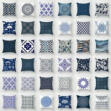 Blue and White Porcelain Pattern Square Sofa Decor Pillow Case Cushion Cover