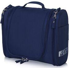 Hanging Toiletry Travel Bag - Travel Organizer Bag with Hook (Navy/Dark Blue)