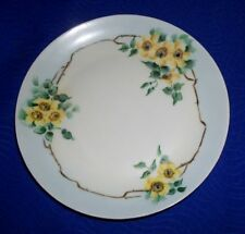 Hutschenreuther Gelb Bavaria Germany Floral Collector Plate 8""