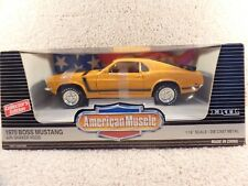 ERTL American Muscle 1:18 Scale Diecast 1970 Ford Boss Mustang With Shaker Hood