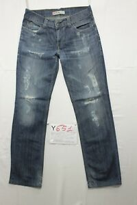 Levi's 511 Wild Boar(Cod. Y652)Tg.47 W33 L34 Jeans Slim usato Vintage Customized