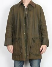 "BARBOUR Border Wax Jacket Chest 42"" Medium Large Green (TH4B)"
