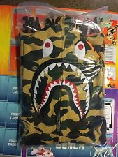 BAPE Yellow Camo WGM Shark Full-Zip Hoodie Size L 100% AUTHENTIC
