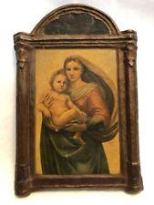 "Antique Gesso Duro Craft, Regal Art Company; ""Sistene Madonna by Raphael"