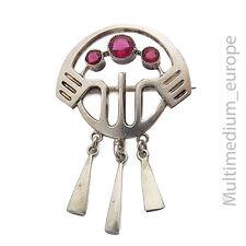 ART NOUVEAU Broche ARGENT ART NOUVEAU 800 silver pin brooch Red pâte 🌺 🌺 🌺 🌺 🌺