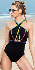 Profile Sport by Gottex NEW Electra Cross Neck One Piece Swimsuit Size 8 NWT