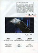 Publicité Advertising 1991  Montre RADO Diastar Ceramica