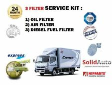 FOR MITSUBISHI CANTER 3.0DT 35 2000-2006 NEW OIL AIR FUEL FILTERS ( 3) KIT OE