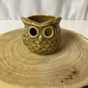 """Retired/ Vintage Yankee Candle Owl Votive Candle Holder Brown 2"""""""
