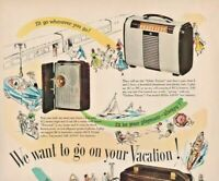 1948 RCA Victor Vintage Print Ad We Want To Go On Your Vacation