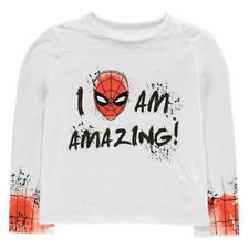 Boys Official Long Sleeved Marvel Spiderman T-Shirt Top Ages 3 through to 8 NEW