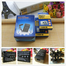 2 Battery + Charger for Kodak EasyShare DX6490 DX7440 DX7590 Klic5000 Klic 5000