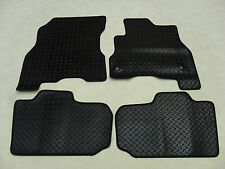 Nissan Leaf 2014-2017 Fully Tailored Deluxe RUBBER Car Mats in Black