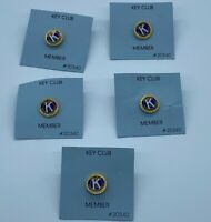 LOT OF 5 Kiwanis International Pins Key Club Member Small logo pin NEW Students