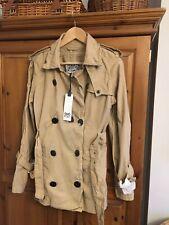 Ladies Firetrap Mac Coat Size Large Desert Beige Colour Brand New 'Hepburn'