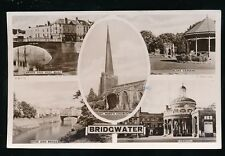 Somerset BRIDGWATER M/view used 1952 RP PPC by Tuck