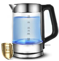 Electric Water Kettle 1.8 Liter Stainless Steel Finish Glass Electric Tea Kettle